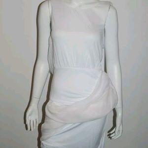 ALICE & OLIVIA 62 NWT WHITE CHIFFON DRESS